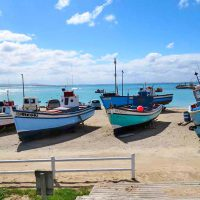 colourful fishing boats - overberg