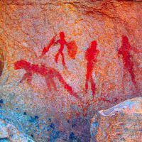 rock paintings - breede river valley