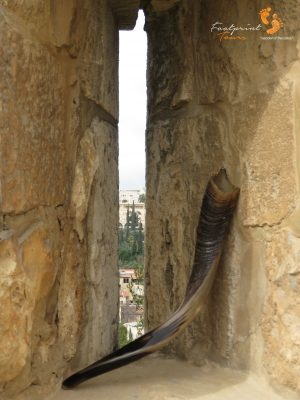 Shofar on Jerusalem wall – IMG_6777