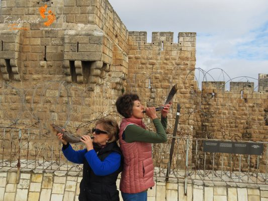 Jerusalem walls – Shofar blowing – IMG_6758