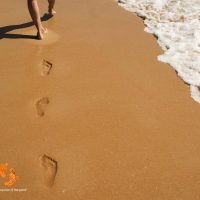 leave your footprints in the sand